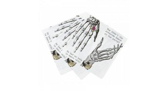 Skeletter servietter. Velegnet til bl.a Halloween fest