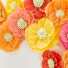 Garden party, 12 silkepapir blomster