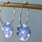 Creoler øreringe med blå blomst, Casalinga