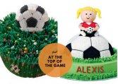 Fodbold kager og kagepynt