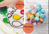 Farver, gelé og glasur til kagedekoration.