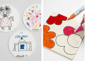 Terrakotta, glas-og porcelænsartikler. Til at dekorere.