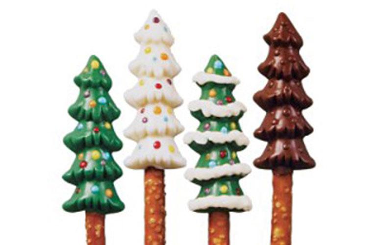 Billede af Chokoladeform, Juletræer
