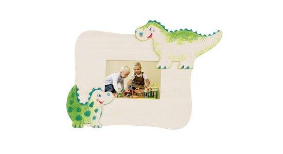 Billedramme med dinosaurus. Mal selv