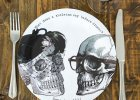 Skeletter paptallerkener. Perfekt til Halloween fest