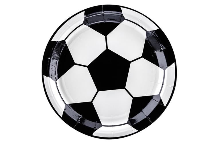 Fodbold paptallerkner, 6 stk