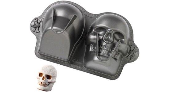 Bageform til kranie 3D, Halloween