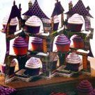 Halloween Cupcake Display. Haunted House