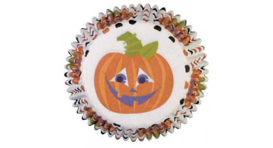 Halloween MINI muffinforme.Polka Dot Pumpkin