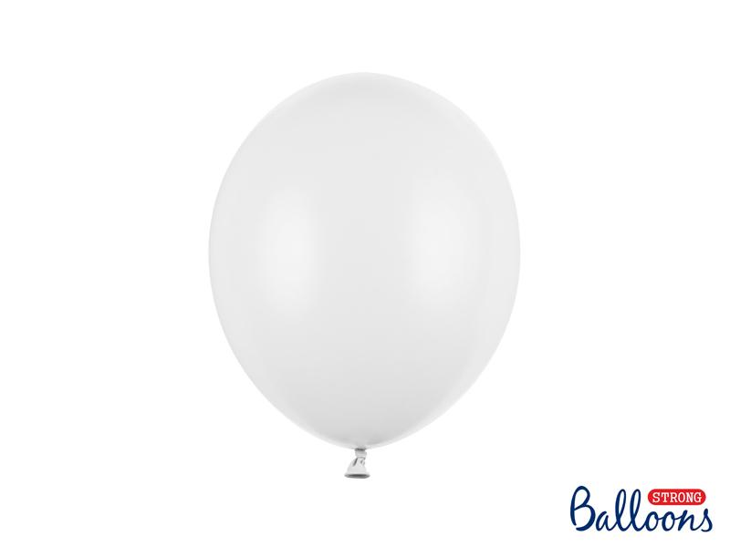 Pastel Hvide balloner.27 cm.10 stk