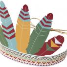 Indianerhovedbeklædning, 6 stk