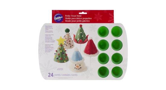 Silikone bageform til 24 mini 3D juletræer