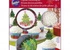 Cupcake dekorations sæt. Juletræ.Juletema