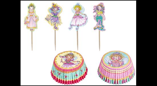 Prinsesse Lillefe Cupcakes kit med forme og pynt, 24 stk