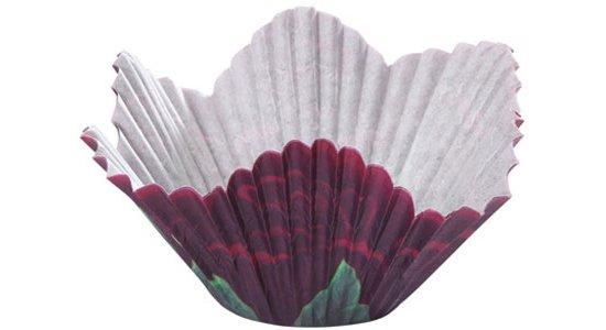 Blomsterformet muffinsforme i papir, Black Rose