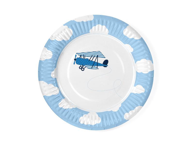 Paptallerken, Little Plane. 6 stk