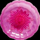 Plastik picnic tallerken, pink