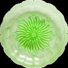 Plastik picnic tallerken, grøn