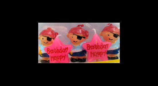 Fødselsdags kagelys, pirater sørøver