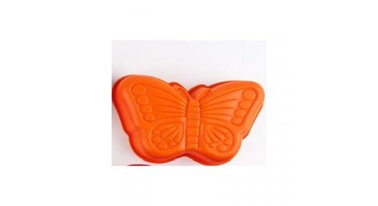 Sommerfugl, Silikone kageform. Orange