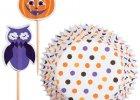 Polka dots pumpkin med kagepynt pix.. Halloween.