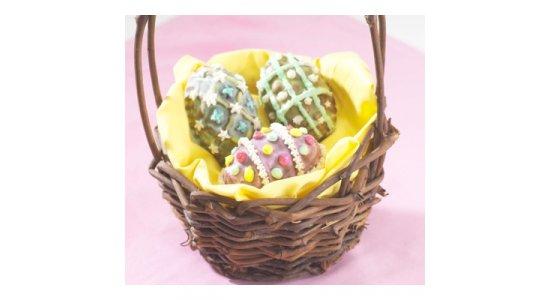 Bageform til 9 påskeæg. Muffins. Påsketema