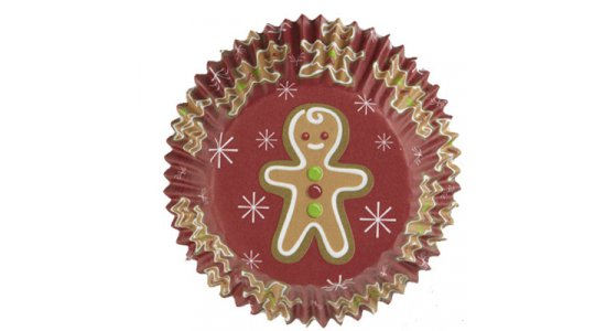 Muffinforme med kagemand, Juletema