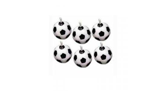 Fodbolde som kagelys
