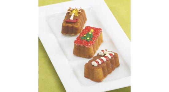 Muffin Bundt bageform med 8 julemotiver.