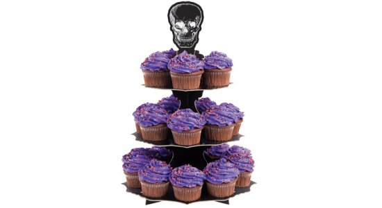 Halloween Cupcake stativ.Kranie.
