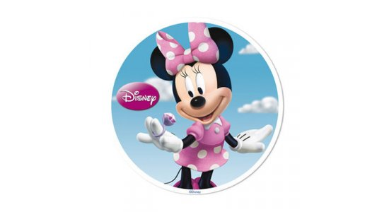 Minnie Mouse med ring. Sukkerbillede.DATOVARE
