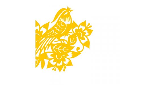Kvalitets designerkort i guldfarvet kuvert, Gul