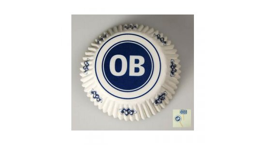 OB muffinsforme med pynt. 24 stk+24 stk pynt.