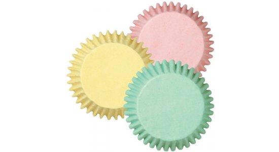 Muffin papirforme, 3 pastelfarver