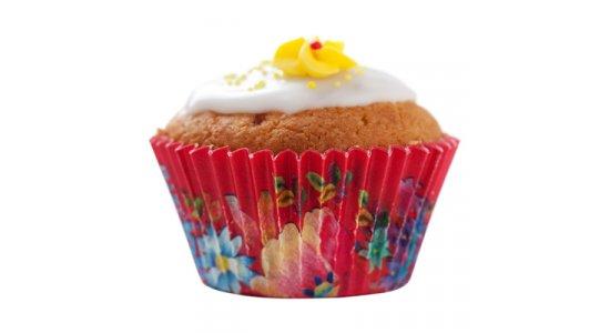 Kalas fårm muffinforme. Blomster Rød