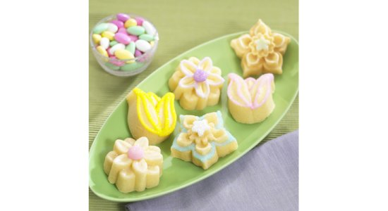 Bageform til 6 blomster muffins.