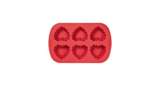 Ruffled hjerte Silikone Bageform muffins. Valentin