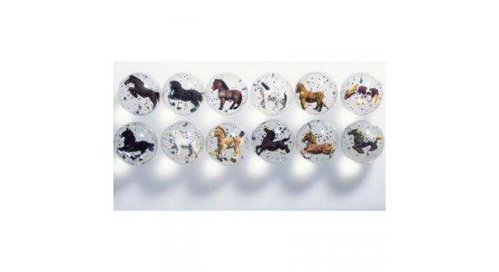 Hoppebold med 3D hest og glitter