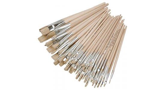 Nature Line pensel, nr 00, kort skaft. 1. stk
