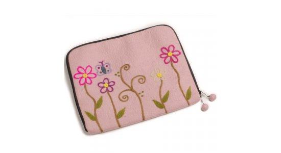 Laptop Sleeve. Pink Flower. En gry og sif.