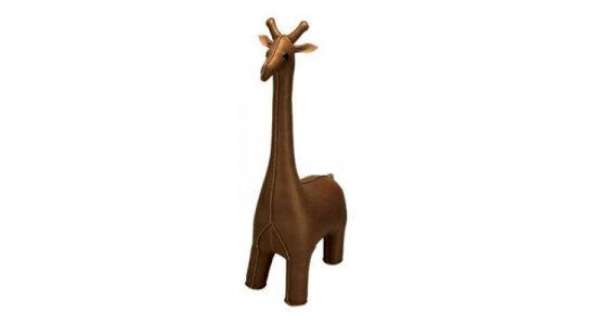 Züny Giraf. Mørkebrun. Bogstøtte, dørstopper, pynt.FRAGTFRI