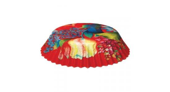 Papirforme til kanelsnegle, blomster rød