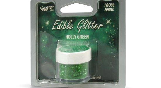 Glitter drys kagepynt, Grøn
