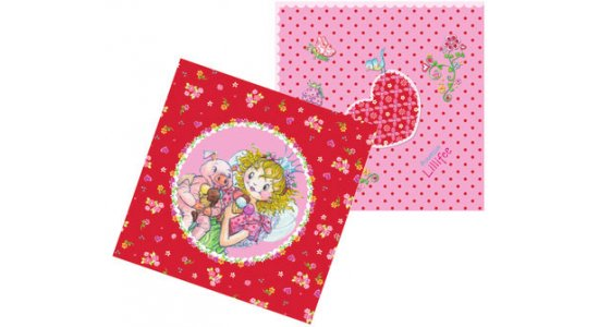 Prinsesse Lillefe papirservietter. Rød