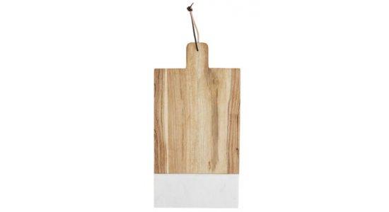 Marmor/træ skærebræt. 30x47,5 cm