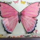 Truly Fairy guirlande. 12 store sommerfugle på 3 m snøre.