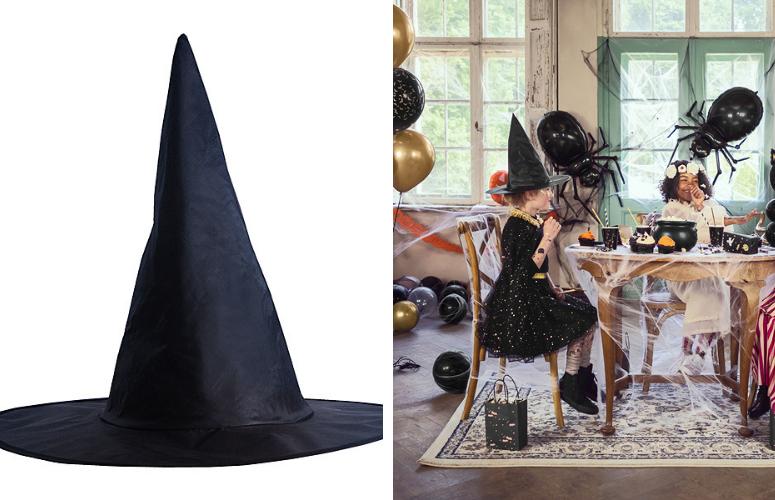 Hekse hat, Sort. Halloween.