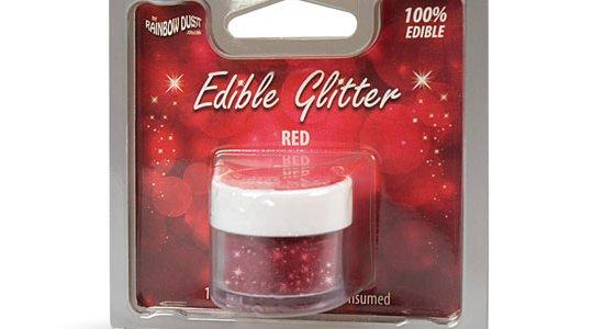 Glitter drys kagepynt, Rød