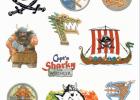 Capt'n Sharky pirat tatoveringer, 10 motiver