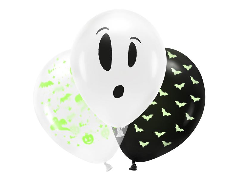 Halloween balloner til UV lys. BOO! 3 stk